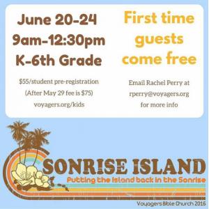 SonRise Island Sign Up