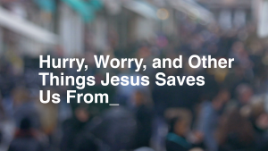 Hurry Worry and Other Things Jesus Saves Us From